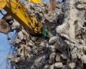 Demolition with excavators